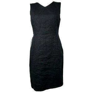 NWT TALBOTS Petites Black Linen Dress Size 10P